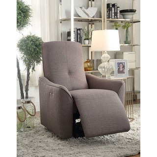 Agico Grey Fabric Power Motion Recliner