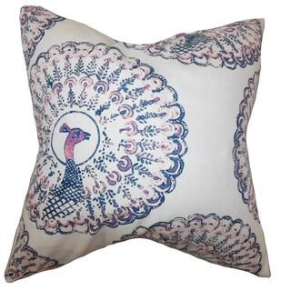 Ieesha Animal Print Throw Pillow Cover Sapphire