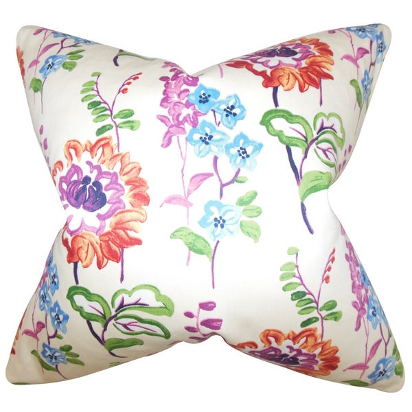 Haley Floral Throw Pillow Cover