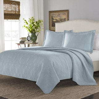 Stone Cottage Arbor Breeze Blue Cotton Quilt Set