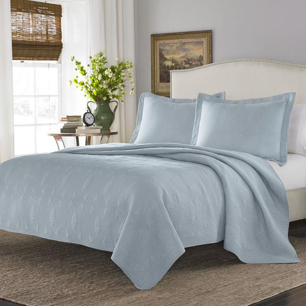 Stone Cottage Arbor Breeze Blue Cotton Quilt Set