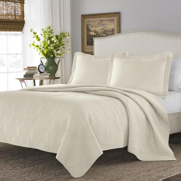 Stone Cottage Arbor Ivory Cotton Quilt Set