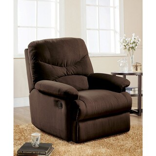 Arcadia 00635 Chocolate Microfiber 35-inch x 35-inch x 40-inch Glider Recliner