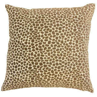 Meltem Animal Print Throw Pillow Cover Teak