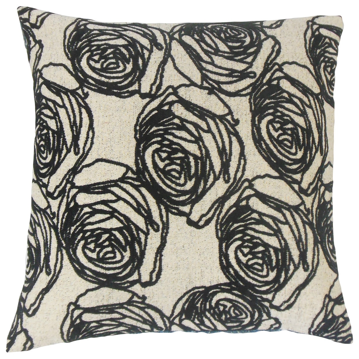 Ilaria Floral Throw Pillow Cover Domino (Size)