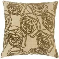 Ilaria Floral Throw Pillow Cover Cork