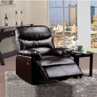 Arcadia Brown Bonded Leather Recliner