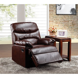 Arcadia Cracked Brown Bonded Leather Recliner