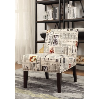 Aberly Espresso Rubberwood/Fabric/Polyester Accent Chair
