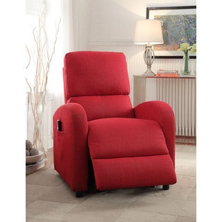 Croria Red Fabric Power Life Recliner  sc 1 st  Overstock.com & Red Recliner Chairs u0026 Rocking Recliners - Shop The Best Deals for ... islam-shia.org