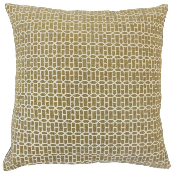 Yancy Geometric Throw Pillow Cover Raffia