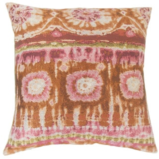 Xantara Ikat Throw Pillow Cover Guava
