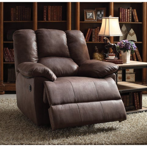 Oliver Brown Polished Microfiber Power Motion Recliner