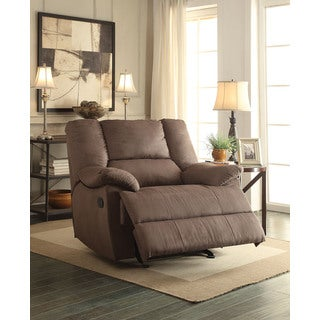 Oliver Motion Dark Gray Nubuck Oversized Glider Recliner