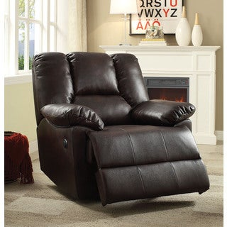 Oliver Dark Brown Leather-aire Power-motion Recliner