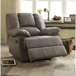 Oliver Grey Leath-aire Glider Recliner