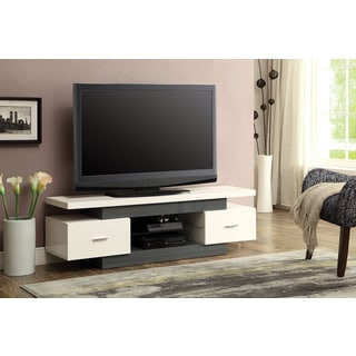 Vicente White and Grey TV Stand