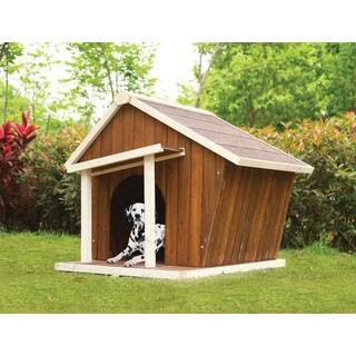 Rylee Oak Brown Wooden Dog House