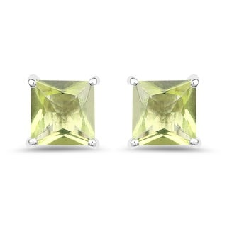 Malaika .925 Sterling Silver 2.00-carat Genuine Peridot Earrings