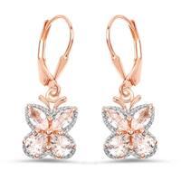 Malaika Rose Gold-plated 0.925 Sterling Silver 1.88-carat Genuine Morganite Earrings