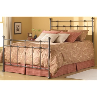 Dexter Complete Bed with Decorative Metal Castings and Globe Finials, Hammered Brown