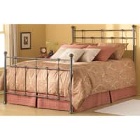Maison Rouge Valery Complete Bed with Decorative Metal Castings and Globe Finials