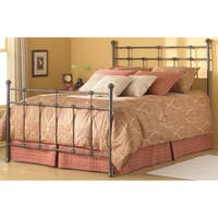Copper Grove Bamberton Complete Bed with Decorative Metal Castings and Globe Finials