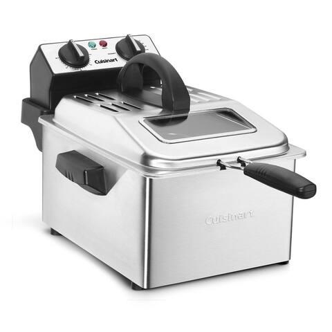 Cuisinart CDF-200 Stainless Steel 4-quart Deep Fryer - Silver