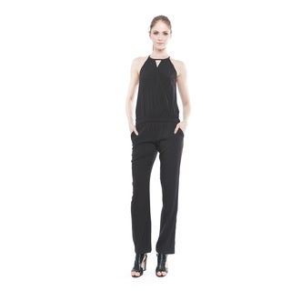 Walter Baker Women's Blake Solid Crossover Jumpsuit