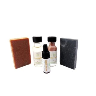 Facial Sampler, Charcoal Soap, Rosehip Soap, Balancing Toner, Nourishing Mask, Regenerating Serum by Karess Krafters Apothecary