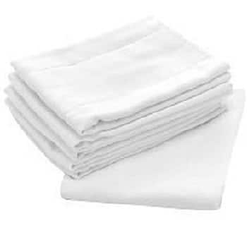 Birdseye White 100-percent Cotton 27-inch x 27-inch Flat Cloth Diapers (Case of 96)