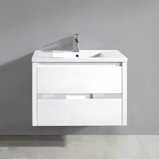 OVE Decors Chiara White Gloss 32-inch Floating Vanity