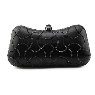 MG Collection Women's Emelina Black Fabric Patterned Clutch