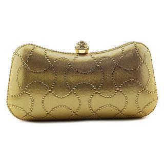 MG Collection Women's Emelina Gold Fabric Bag