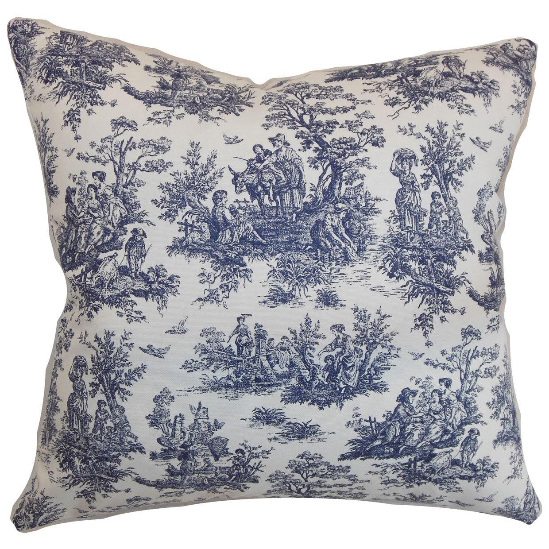 Lalibela Toile Throw Pillow Cover (18 x 18), Multi (Fabric)