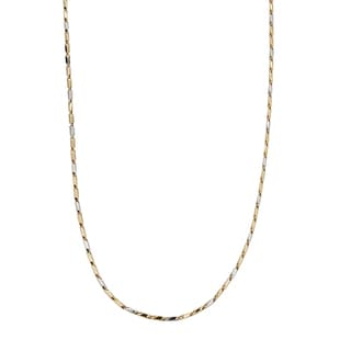 Decadence 14k Two-tone Gold Obelisk Tube 26-inch Necklace