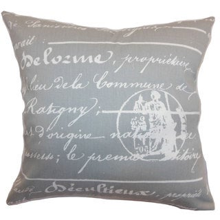 Saloua Typography Throw Pillow Cover