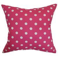 Nancy Polka Dots Throw Pillow Cover