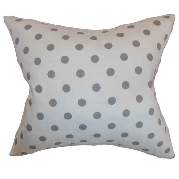 Nancy Polka Dots Throw Pillow Cover