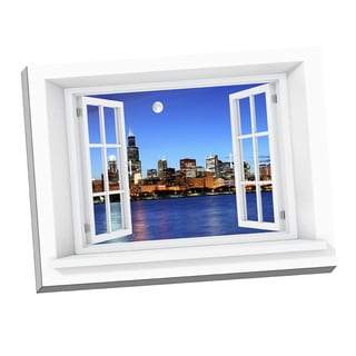 Full Moon Paradise' Window Art on 24-inch x 32-inch Stretched Canvas