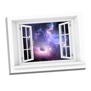 Picture It Galaxy Paradise Window Art 24-inch x 32-inch Stretched Canvas