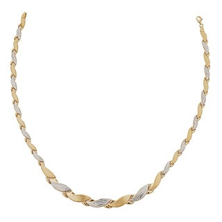 Decadence 14k Two-tone Gold High-polished Diamond-cut Conchiglioni-shaped 17-inch Necklace