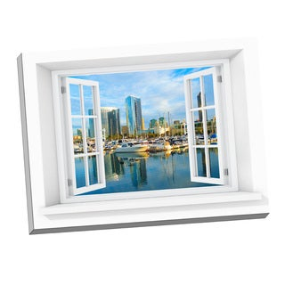 Picture It San Diego Paradise Window Art Stretched Canvas