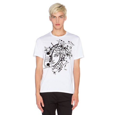 Versace Collection Men's White Half Medusa T-shirt