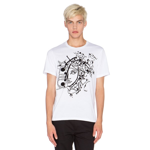 a0f2dc6f Shop Versace Collection Men's White Half Medusa T-shirt - Free Shipping  Today - Overstock - 12018910
