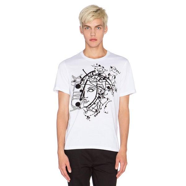 Versace Collection Men's White Half Medusa T-shirt