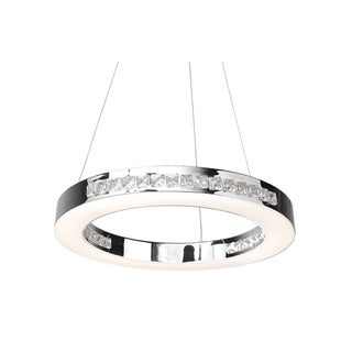 Access Lighting Affluence Chrome 16 inch LED Ring Pendant