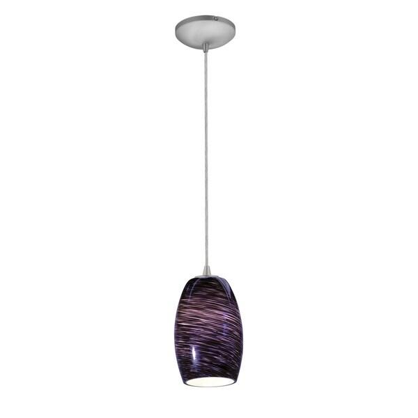 Access Lighting Chianti Steel Integrated LED Cord Pendant, Purple Cloud Shade
