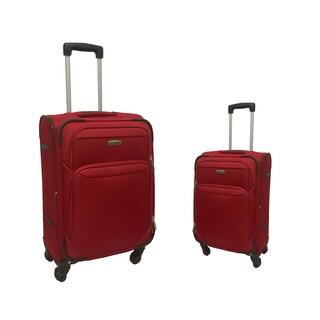 NY Cargo Avalon Polyester 2-piece Expandable Spinner Upright Luggage Set