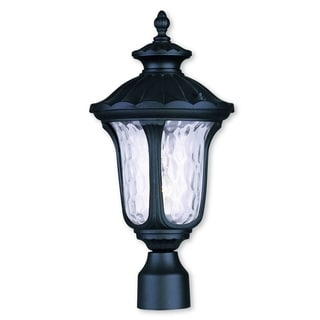 Livex Lighting Oxford Black Aluminum 1-light Outdoor Post Lantern